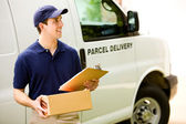 Delivery: Man Looking for Correct Address — Stock Photo