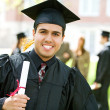 Stock Photo: Graduation: Hispanic Student Happy to Graduate
