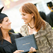 Graduation: Mother Proud of Daughter Graduate — Stock Photo