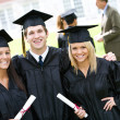 Stock Photo: Graduation: Group of Friends Pose for Camera