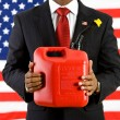 Stock Photo: Politician: Importance of Gasoline in Economy