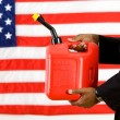 Politician: Holding a Gas Can Concept — Stock Photo
