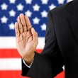 Politician: Hand Raised to Take an Oath — Stock Photo #24575065