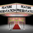 Stock Photo: 3d: Fancy Theater Entrance with Marquee