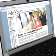 Stock Photo: 3d: News Story on Laptop: Swine Flu