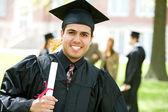 Graduation: Hispanic Student Happy to Graduate — Stock Photo