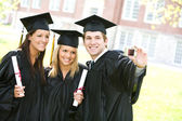 Graduation: Group of Friends Smile for Camera — Stock Photo