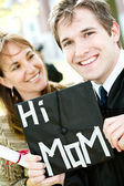 Graduation: Mom Proud of Son Graduate — Stock Photo