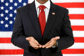 Politician: Showing Empty Hands — Stock Photo