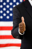 Politician: Man with Positive Attitude — Stock Photo