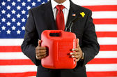 Politician: The Importance of Gasoline in the Economy — Stock Photo