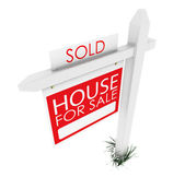 3d: Real Estate Sign: Home Sold — Stock Photo