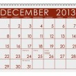 Calendar: December 2013 — Stock fotografie #24776731