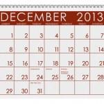 Calendar: December 2013 — Stock Photo #24776731