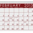 Royalty-Free Stock Photo: Calendar: February 2013