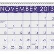 Royalty-Free Stock Photo: Calendar: November 2013