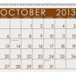 Stock Photo: Calendar: October 2013