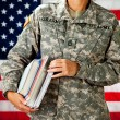 Stock Photo: Soldier: Going Back to School