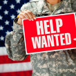 Soldier: Looking for New Job — Stock Photo #24778597