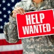 Soldier: Looking for a New Job — Stock Photo #24778597