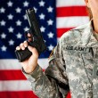 Soldier: Ready to Defend Country — Stock Photo #24778849