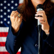 Stock Photo: Politician: Passionate Speech