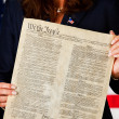 Politician: Holding the US Constitution — Stock Photo