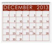 календарь: декабрь 2013 — Стоковое фото