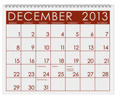 Calendar: December 2013 — Stock fotografie