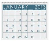 Calendar: January 2013 — Stock Photo