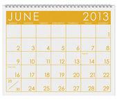 Calendar: June 2013 — Stock Photo