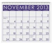 Calendar: November 2013 — Stock Photo