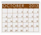 Calendar: October 2013 — Stock Photo