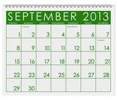 Calendar: September 2013 — Stock Photo