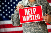 Soldier: Looking for a New Job — 图库照片