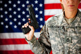 Soldier: Ready to Defend Country — Stock Photo