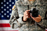Soldier: Military Photographer — Stock Photo