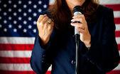 Politician: Passionate Speech — Stock Photo