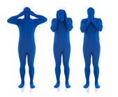Blue: Hear No Evil, See No Evil, Speak No Evil — Stock Photo