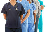 Doctors: Anonymous Group of Doctors — Stock Photo