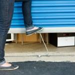 Storage: Shutting the Unit Door — Foto Stock