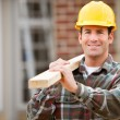 Construction: Cheerful Construction Worker — Stock Photo