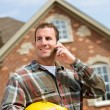 Construction: Contractor on the Phone — Stock Photo #25102107