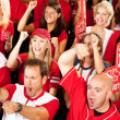 Fans: Crowd Excited About Winning Play — Stock Photo