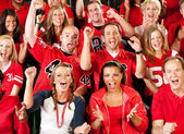 Fans: Excited Crowd Cheering for Team — Stock Photo