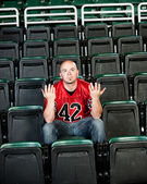 Fans: Lonely Fan Unsure of Why Team Lost — Stock Photo