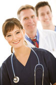 Doctors: Medical Team in a Line — Stock Photo