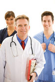 Doctors: Trustworthy Health Professional Team — 图库照片
