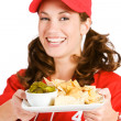 Baseball: Focus on Nacho Snack — Stock Photo #26147677