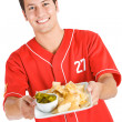 Baseball: Hungry for Nacho Chips — Stock Photo